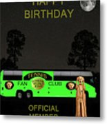 The Scream World Tour Tennis Tour Bus Happy Birthday Metal Print