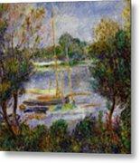 The Seine At Argenteuil Metal Print by Pierre Auguste Renoir