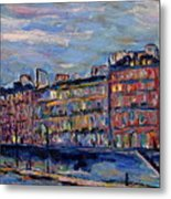 The Seine In Paris Metal Print