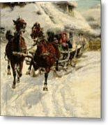 The Sleigh Ride Metal Print