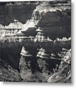 The Spectacular Grand Canyon Bw Metal Print