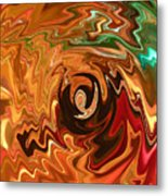 The Spirit Of Christmas - Abstract Art Metal Print