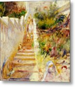The Steps In Algiers Metal Print by Pierre Auguste Renoir