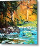 The Stream- Pochade Metal Print