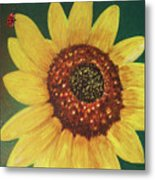 The Sunflower In Our Garden Metal Print