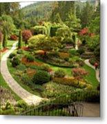 The Sunken Garden At Butchart Gardnes Metal Print