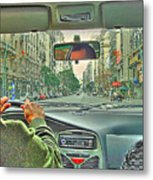 the Taxi Driver Metal Print