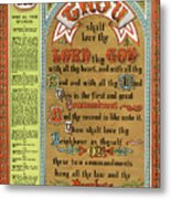 The Ten Commandments Metal Print by Pg Reproductions