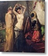 The Toilet In The Seraglio Metal Print by Theodore Chasseriau