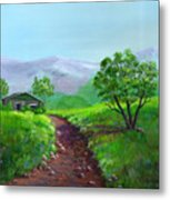 The Trappers Cabin Metal Print