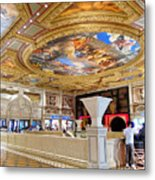 The Venetian Hotel Lobby Metal Print