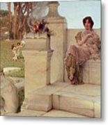 The Voice Of Spring Metal Print by Sir Lawrence Alma-Tadema