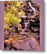 The Water Falls Metal Print