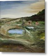 The Water Hole Ranch Metal Print