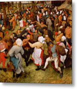 The Wedding Dance Metal Print by Pieter the Elder Bruegel