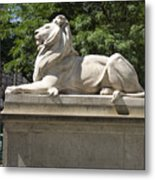 The Well Read Lion Metal Print