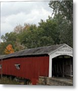 The West Union Covered Bridge Metal Print