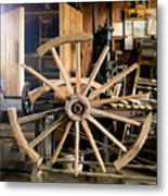 The Wheelwright's Shop Metal Print