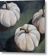The White Pumpkins Metal Print
