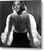 The Whole Towns Talking, Jean Arthur Metal Print by Everett