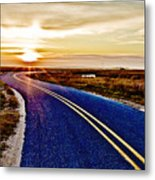 The Winding Road Metal Print