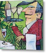 The Wine Steward Metal Print
