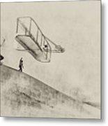 The Wright Brothers At Kittyhawk Metal Print
