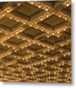 Theater Ceiling Marquee Lights Metal Print