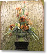 Theater Flower Arrangement Metal Print