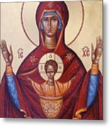Theotokos The Inexhaustable Cup Metal Print by Julia Bridget Hayes