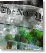 There Is No News Fit To Print Metal Print