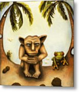 Thinking About Coconuts Metal Print