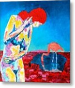 Thinking Woman Metal Print