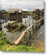 This Is The Philippines No.10 - Pilar Fishing Village Metal Print