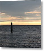 Thomas Point - The Morning Sun Over The Bay Metal Print