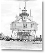 Thomas Point Lighthouse Metal Print by Laurie Williams