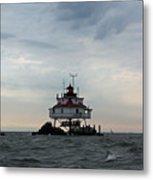Thomas Point Shoal Lighthouse - Icon Of The Chesapeake Bay Metal Print