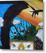 Those Eyes   Eagle Metal Print
