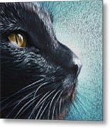 Thoughtful Cat Metal Print