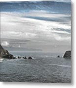 Three Arch Rocks National Wildlife Refuge Near Cape Meares Oregon Metal Print by Christine Till
