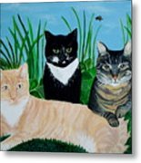 Three Furry Friends Metal Print