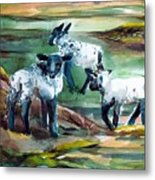 Three Lambs Metal Print