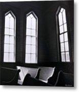 Three Window Church Metal Print