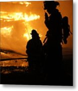 Through The Flames Metal Print by Benanne Stiens