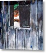 Thru The Barn Window Metal Print