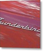 Thunderbird Car Nameplate Metal Print