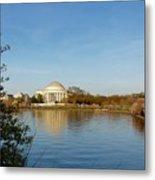 Tidal Basin And Jefferson Memorial Metal Print