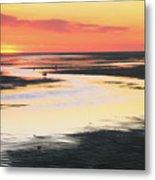 Tidal Flats At Sunset Metal Print