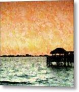Tiki Sunset Metal Print
