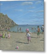 Time To Go Home - Porthgwarra Beach Cornwall Metal Print